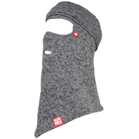 Airhole 2018 Snowboard Beanieclava Sweater Knit Facemask Heather Grey M/L New