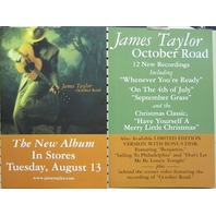 James Taylor 2002 October Road...2 sided promo poster Flawless New Old Stock
