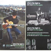 John Mayer 2008 Where The Light Is 2 sided promo poster Flawless New Old Stock
