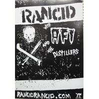 Rancid AFI Distillers Hellcat Records promotional poster Flawless New old stock