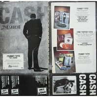 JOHNNY CASH 2005 Legend columbia records 2 sided promo poster New Old Stock