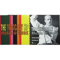 The Tragically Hip 2000 Music @ Work 2 sided promo poster/flat New Old Stock