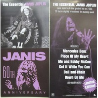 Janis Joplin 2002 Essential columbia records 2 sided promo poster New Old Stock