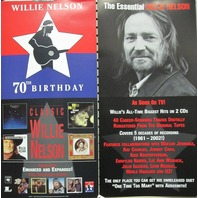 Willie Nelson 2003 70th Bday columbia records 2 sided promo poster New Old Stock