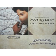 Prince 2004 Musicology Columbia Records 2 sided promo poster New Old Stock