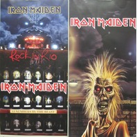 Iron Maiden 1998 Rock In Rio 2 sided promotional poster VG+ New Old Stock