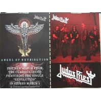Judas Priest 2005 Retribution Epic Records 2 sided promo poster New Old Stock