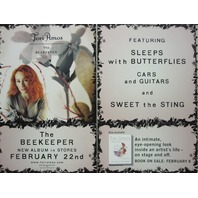 Tori Amos 2005 The Beekeeper Epic Records 2 sided promo poster New Old Stock