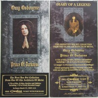 Ozzy Osbourne 2005 Prince Diary Epic Records 2 sided promo poster New Old Stock