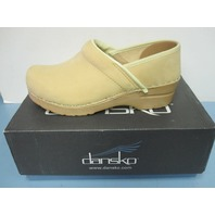 DANSKO womens Professional Nubuck Clog BUTTER EU 36/USA 6 NEW in box 106901490