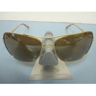 OAKLEY womens Conquest Sunglass Satin Gold/Tungsten Iridium OO4101-03 New In Box