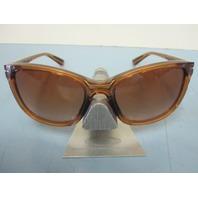OAKLEY womens Drop In Sunglass Topaz/VR50 Brown Gradient OO9232-13 New In Case