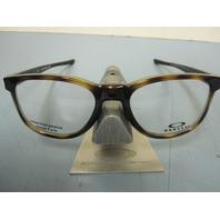 OAKLEY mens RX eyeglass frame Cloverleaf Trubridge Tortoise OX8102-0452 New Box