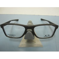 OAKLEY mens RX eyeglass frame Fin Box Trubridge Woodgrain OX8108-0355 New In Box