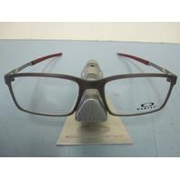 5aacd6ed974 OAKLEY mens RX eyeglass frame Steel Line S Black Ink OX8097-0254 New In Box