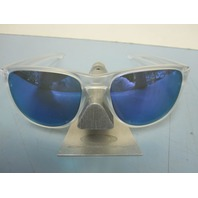 OAKLEY mens SLIVER R sunglass Matte Clear/Violet Iridium OO9342-02 NEW in baggy