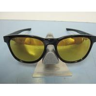 OAKLEY mens Stringer Sunglass Black/24K Gold Iridium OO9315-04 New In O Baggy