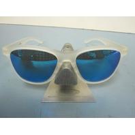 OAKLEY womens MOONLIGHTER sunglass Frost/Sapphire Iridium OO9320-03 NEW in Baggy