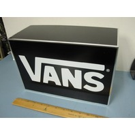 VANS skateboard snowboard BMX surf dealer METAL BOX display  NEW old stock