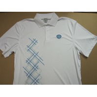 Medinah Country Club Level Wear Golf Polo Shirt White mens Large NEW Never Worn