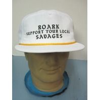 Roark Revival Clothing Support Savages SnapBack Hat White NEW w/tag Free Ship