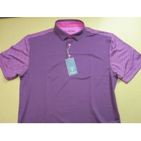 G-MAC Golf 2017 Temple Polo Shirt Plum/Violet mens Large NEW w/tags GMAC