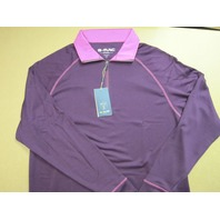 G-MAC Golf Moone L.S. Polo Shirt Plum/Violet mens Large NEW w/tags GMAC