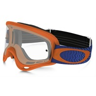 Oakley mens O-Frame MX Goggle Shockwave Orange/Blue/Clear OO7029-25 New in Box