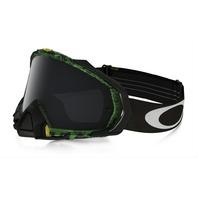 Oakley Mayhem Pro Mx Goggle Distress Tagline Green/Dk Grey OO7051-31 New In Box