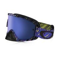 Oakley O2 Mx Goggle Rain Terror Blue/Purp/Black Ice Iridium OO7068-14 New In Box