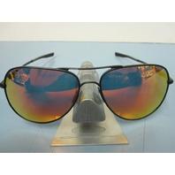 OAKLEY mens ELMONT L sunglass SATIN BLACK/RUBY IRIDIUM OO4119-0460 NEW in bag