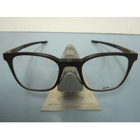 OAKLEY mens RX eyeglass frame MILESTONE 3.0 amber OX8093-0449 NEW w/Oakley case