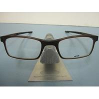 OAKLEY mens RX eyeglass frame MILESTONE 2.0 amber OX8047-0450 NEW w/Oakley case