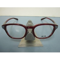 OAKLEY womens MISLEAD red mosaic RX eyeglass frame OX1107-0548  NEW w/O case
