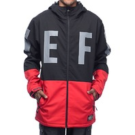 NEFF snowboard SKI skateboard 2017 DAILY SOFTSHELL mens JACKET B/R LG NEW w/tag