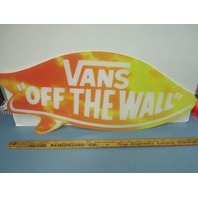 Vans Skateboard Snowboard BMX Surf Dealer Display Sign Big New old stock