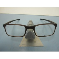 OAKLEY mens RX eyeglass frame MILESTONE 2.0 amber OX8047-0452 NEW w/Oakley case
