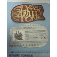 Sly & The Family Stone 2007 Hits die-cut sticker NEW old stock Mint Condition