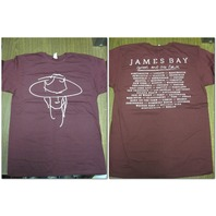 James Bay Chaos & The Calm Official 2015 World Tour Double Sided T-Shirt LG