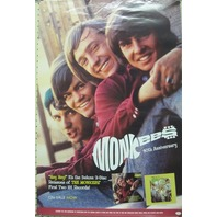 The Monkees 2006 40th anniversary promo poster New Old Stock Nice Condition