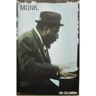 Thelonius Monk on Columbia BIG promotional poster Mint Condition NEW old stock