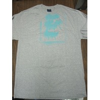 FUCT vintage 90's Spray Ape LG Heather Grey/Blue T-Shirt New Old Stock In Baggy