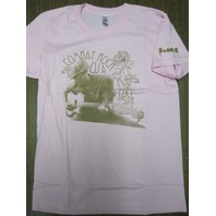 FUCT vintage 2005 Combat Rock LG Womens Pink T-Shirt New Old Stock In Baggy
