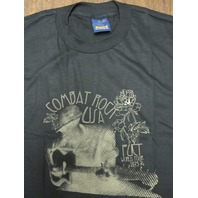 FUCT vintage 90's Combat Rock XLG Black T-Shirt New Old Stock In Baggy