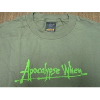 FUCT vintage 90's Apocalypse When LG Green T-Shirt New Old Stock In Baggy