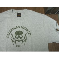 FUCT vintage 90's Calaveras Muertes LG Grey T-Shirt New Old Stock In Baggy