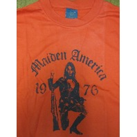 FUCT vintage 90's Maiden America LG Red T-Shirt New Old Stock In Baggy