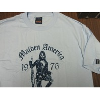 FUCT vintage 90's Maiden America XLG Blue T-Shirt New Old Stock In Baggy