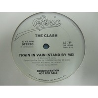"The Clash ‎1979 Train In Vain (Stand By Me) 10"" vinyl promo Punk Record AS749"