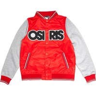 OSIRIS skateboard Sheffield Varsity Jacket Mens Large Red/Grey NEW w/tag